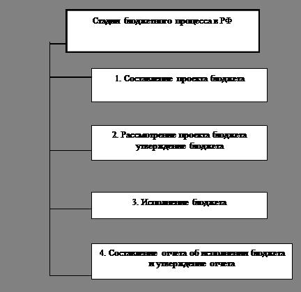 Стадии бюджетного процесса РФ