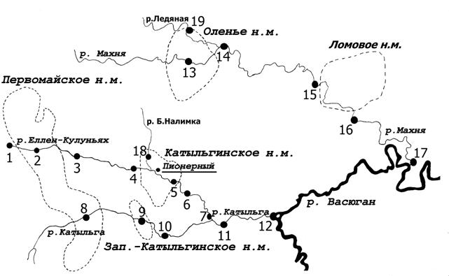 Рис. Карта-схема речной