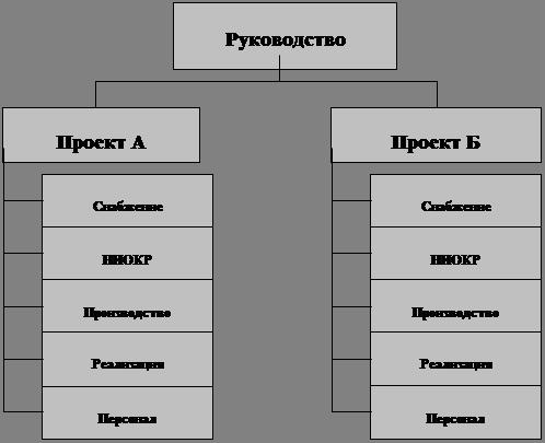 Схема дивизиональной структуры
