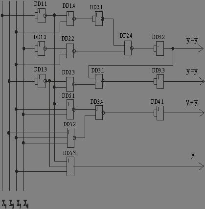 Схема кодопреобразователя в
