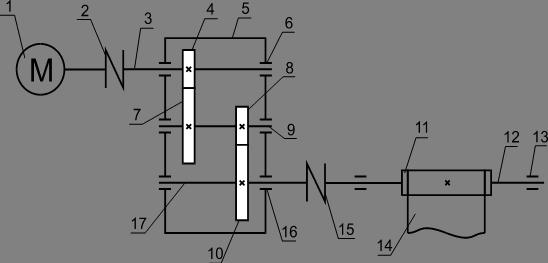 1.1 Кинематическая схема