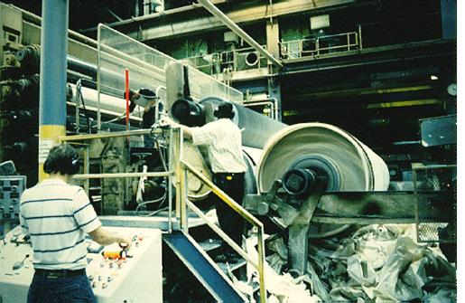 В бумажном производстве